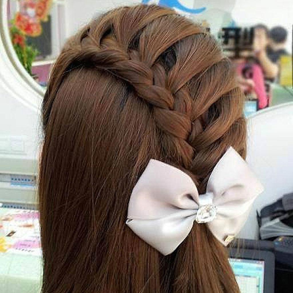 美女发型 集合了编发盘发马尾卷发和盘头